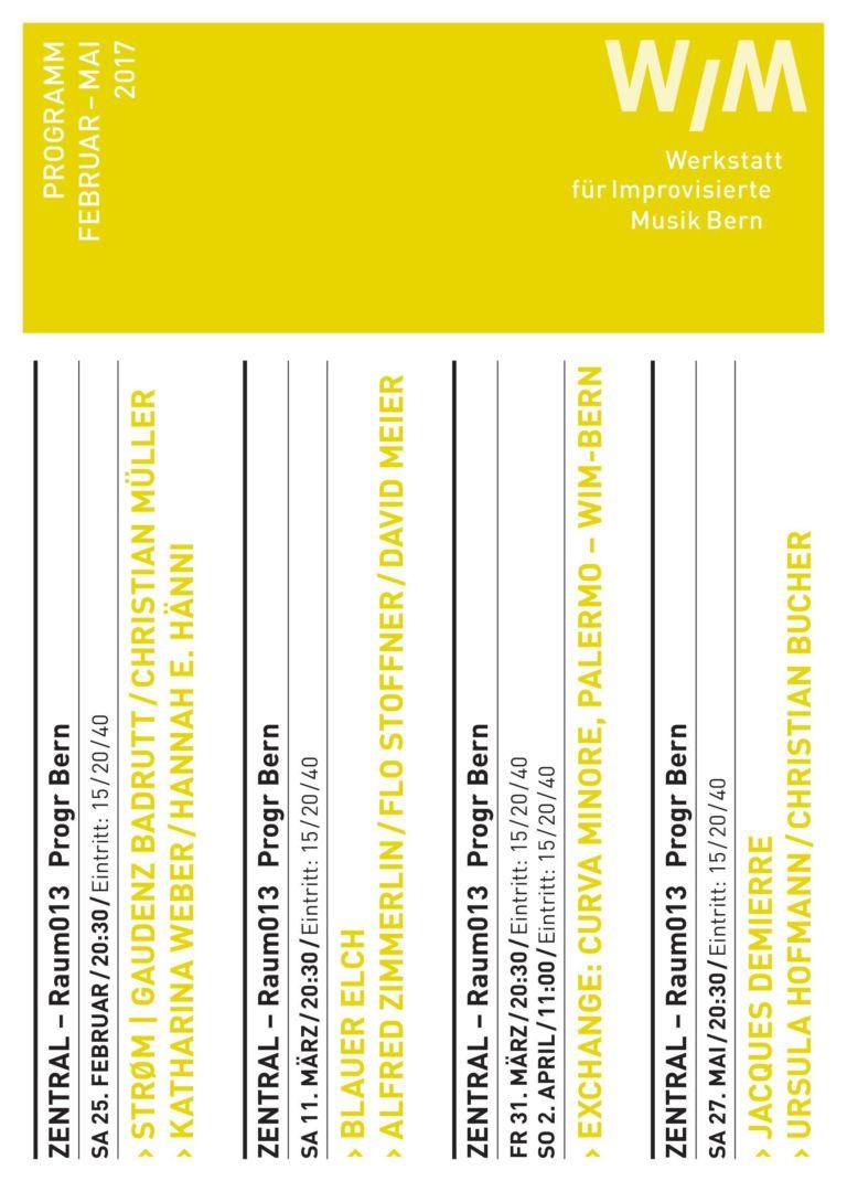WIM Bern: strøm (Gaudenz Badrutt & Christian Müller) || Katharina Weber / Hannah E. Hänni