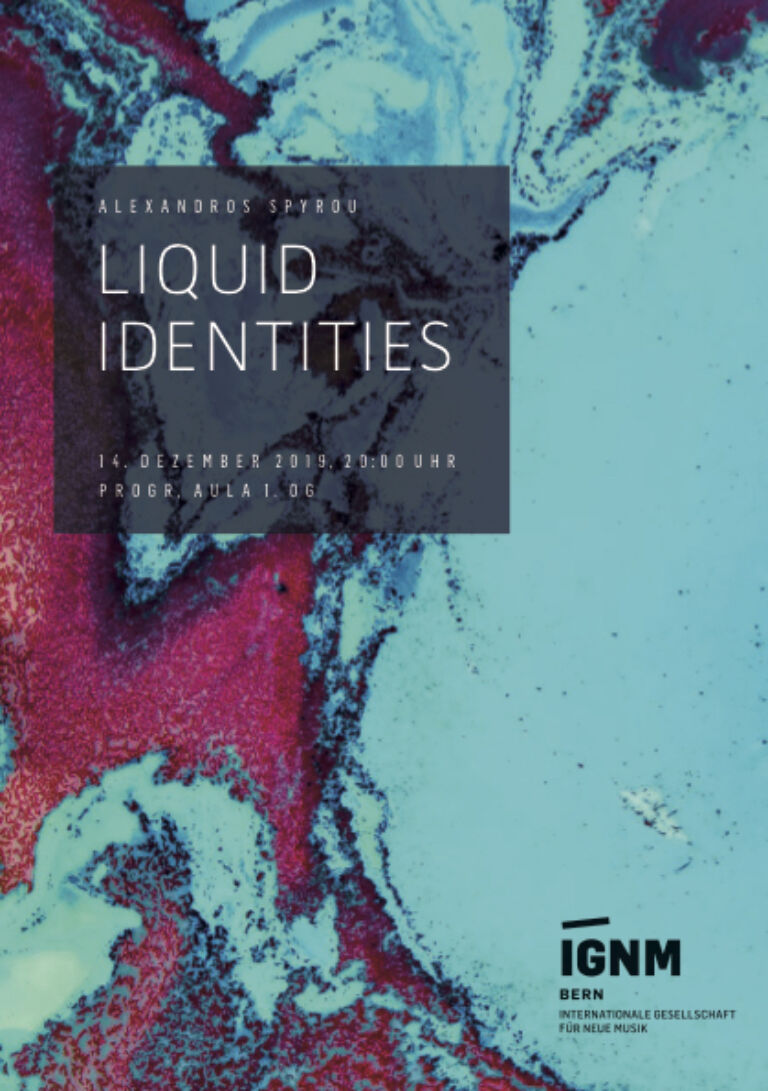 IGNM Bern | LIQUID IDENTITIES